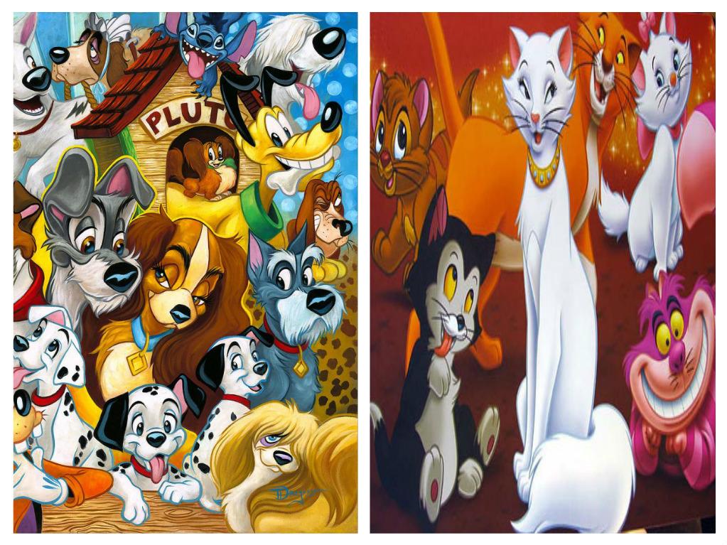 Disney Dogs and Cats   Disney Versus Non-Disney Villains