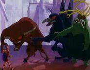 Gorgon, Griffin and Minotaur
