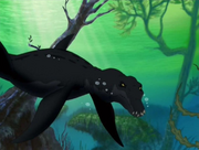 Swimming Sharptooth