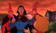 Happy Jester, Sad Jester, Sarousch and Zephyr