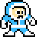 Iceman Megaman 1 Sprite Standing Right