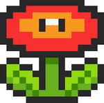 Fire Flower SMB3 SNES Sprite