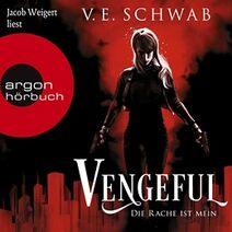 Vengeful audiobook cover, German 01