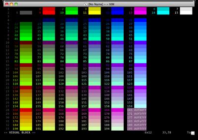 Xterm-color-table