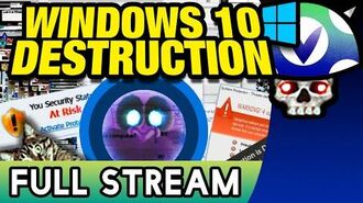 Vinesauce Joel - Windows 10 Destruction ( FULL STREAM )