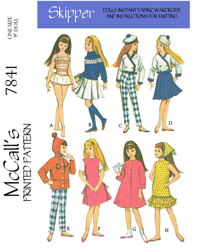 McCalls 7841   Vintage Doll Sewing Patterns Wiki   FANDOM powered by ...