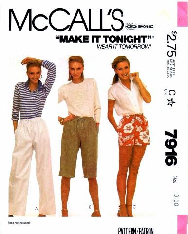 McCalls 1982 7916