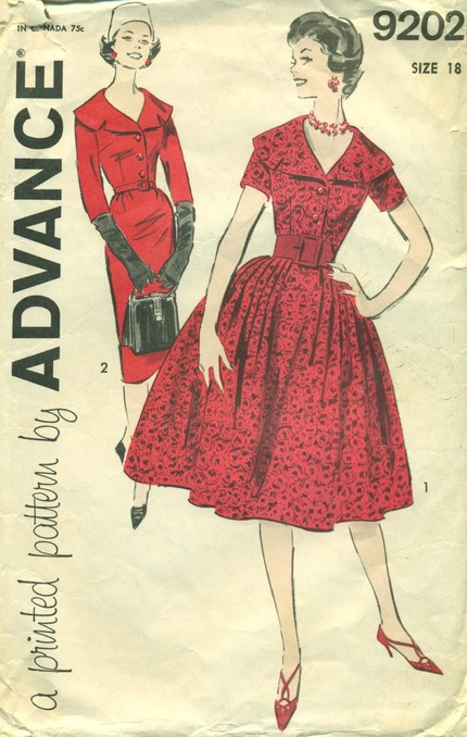 Advance 9202 Vintage Sewing Patterns Fandom Powered By Wikia