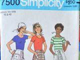 Simplicity 7500 A