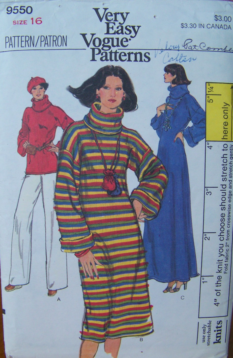 Vogue 9550 A | Vintage Sewing Patterns | FANDOM powered by Wikia