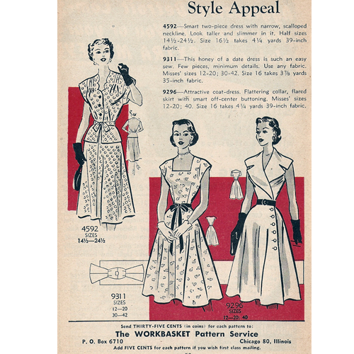 Mail Order 4592 9318 9295 Sewing Pattern