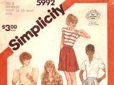 Simplicity 5992 A