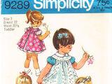 Simplicity 9289