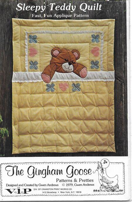 Sleepy Teddy quilt
