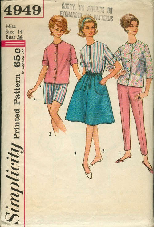 Simplicity 4949 A | Vintage Sewing Patterns | FANDOM powered by Wikia