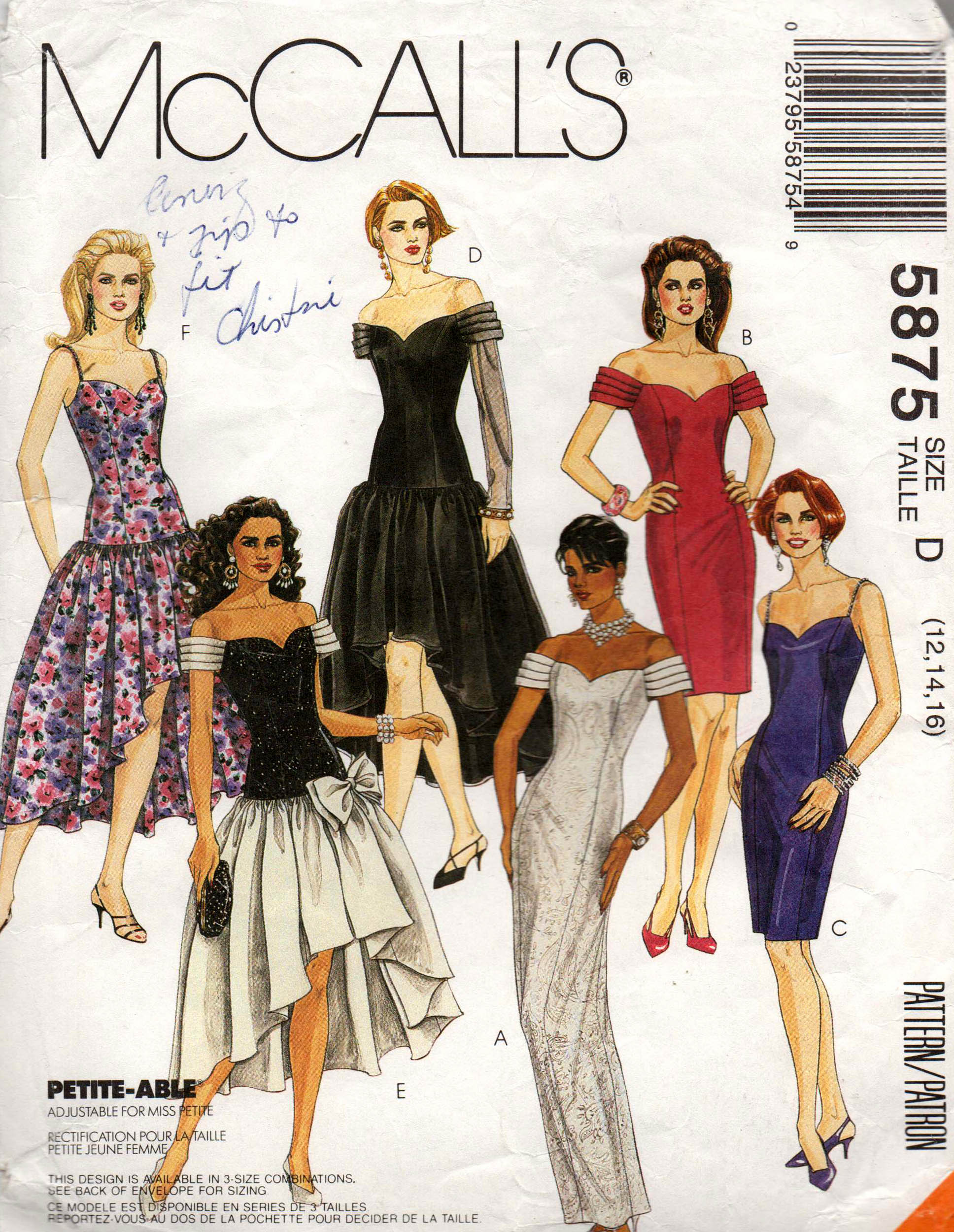 McCall s 5875 A Vintage Sewing Patterns