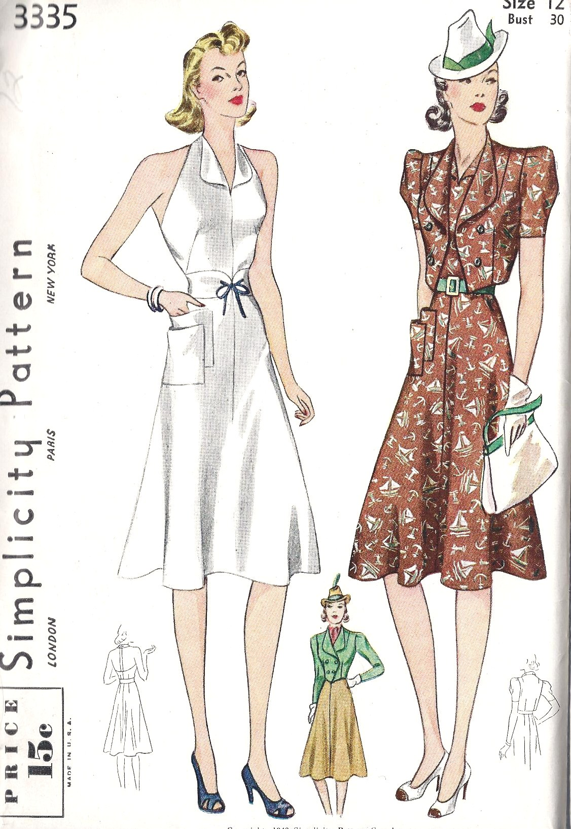 Simplicity 3335 | Vintage Sewing Patterns | FANDOM powered by Wikia