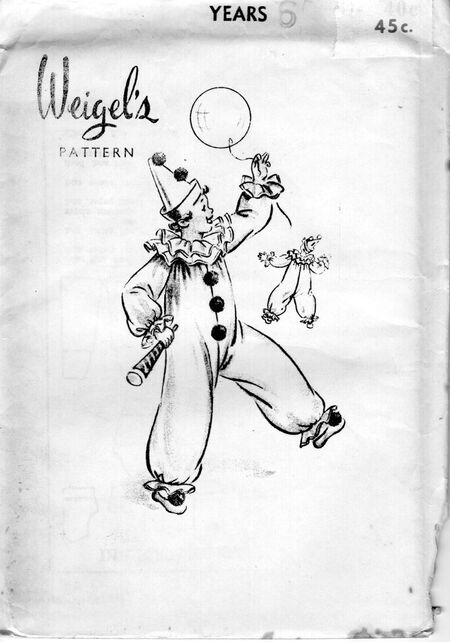 Weigels children pierrot or clown
