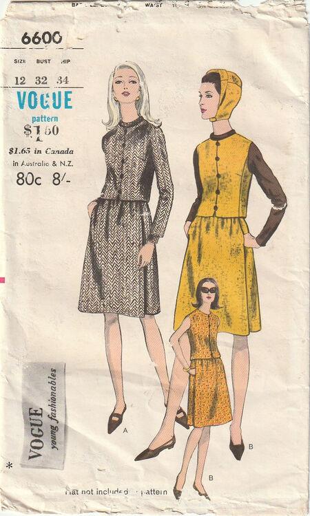 Pattern - Vogue 6600 03