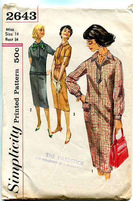 Simplicity 2643 at Design Rewind Fashions on Etsy