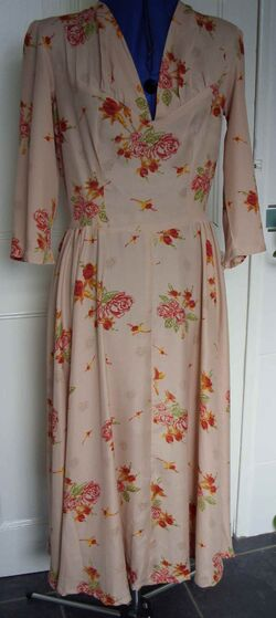 Peach day dress front