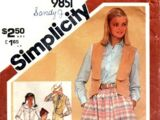 Simplicity 9851