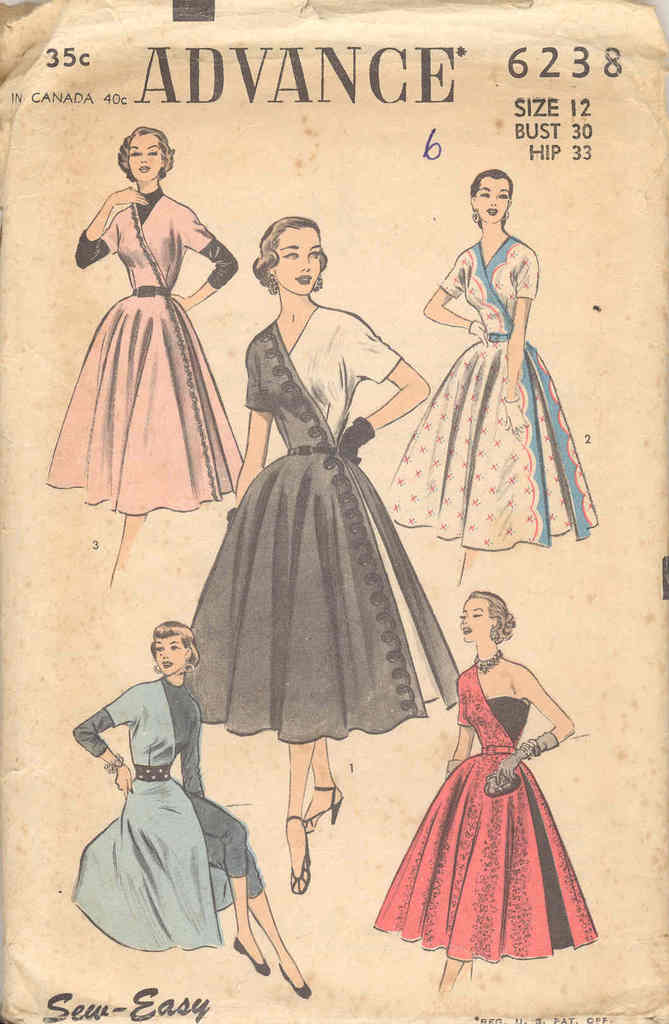 Advance 6238 | Vintage Sewing Patterns | FANDOM powered by Wikia