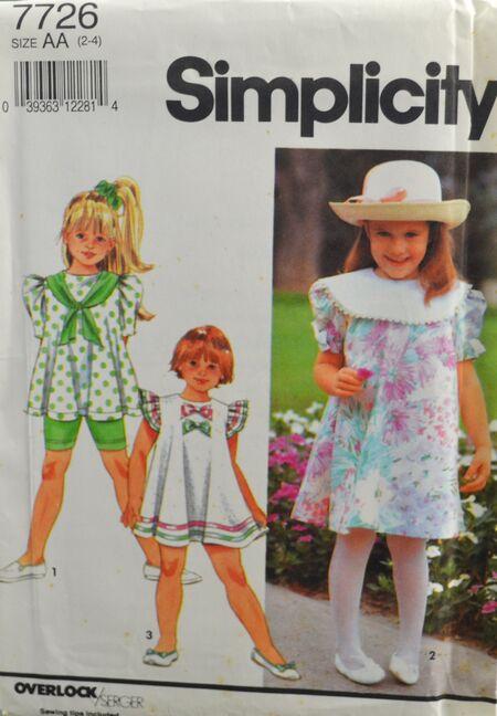 Simplicity Girl's Shorts Dress Top 1