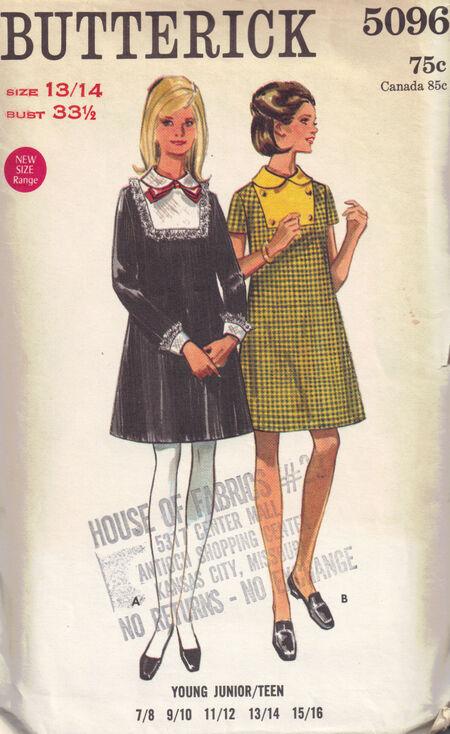 C1960Ls 5096 Butterick Dress