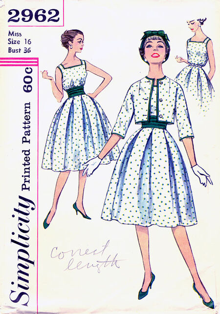 Simplicity 2962 1950s front
