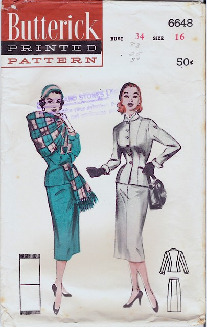 1950's Butterick 6648 front