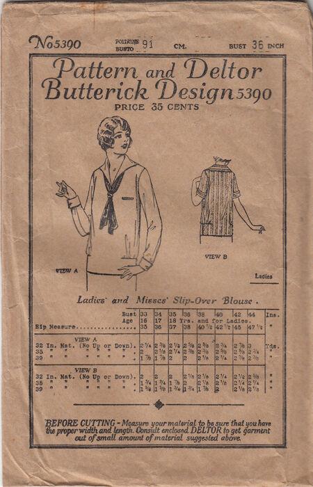 Butterick 5390