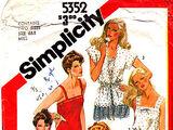 Simplicity 5352 A