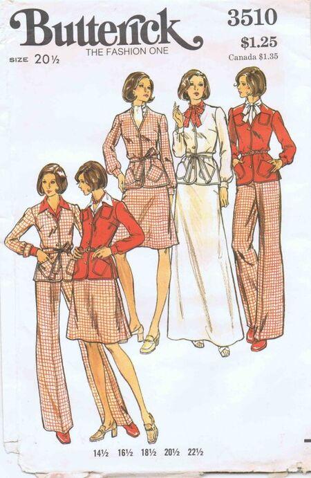 Butterick 1973 3510