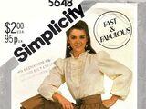 Simplicity 5648 A