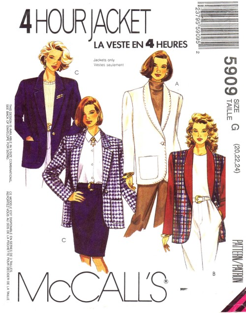 McCalls 1992 5909