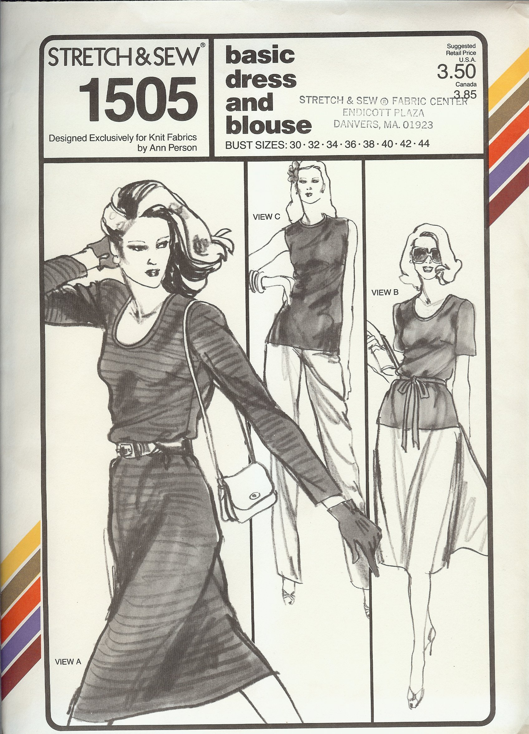 Stretch & Sew 1505 | Vintage Sewing Patterns | FANDOM powered by Wikia