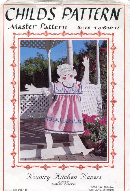 Kountry Kitchen Kapers 102; ©1982, 1983; Childsu0027 And Matching Dollu0027s  Apron Pinafore. Designed By Shirley Johnson. Simple And Easy To Make (no  Seams) ...