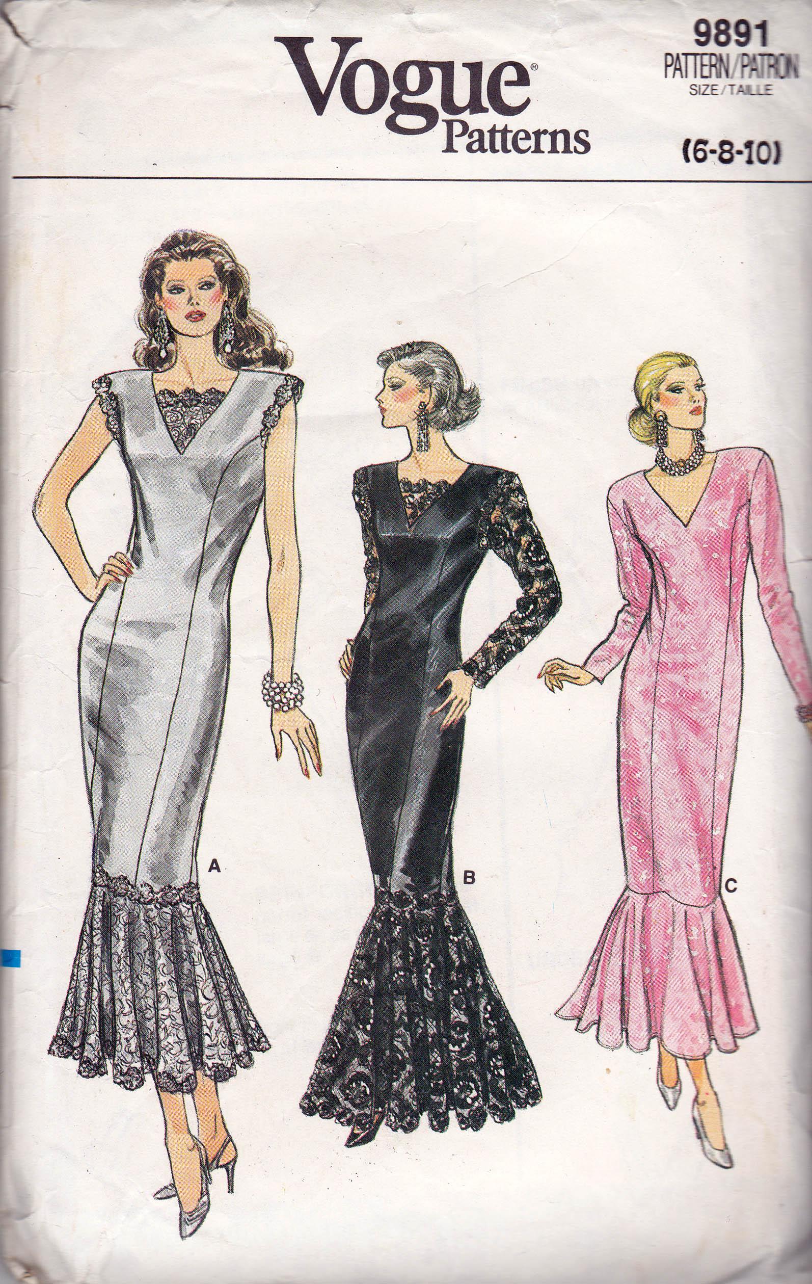 Vogue 9891 B Vintage Sewing Patterns