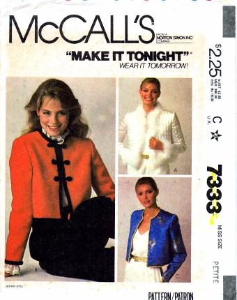 McCalls 1980 7333