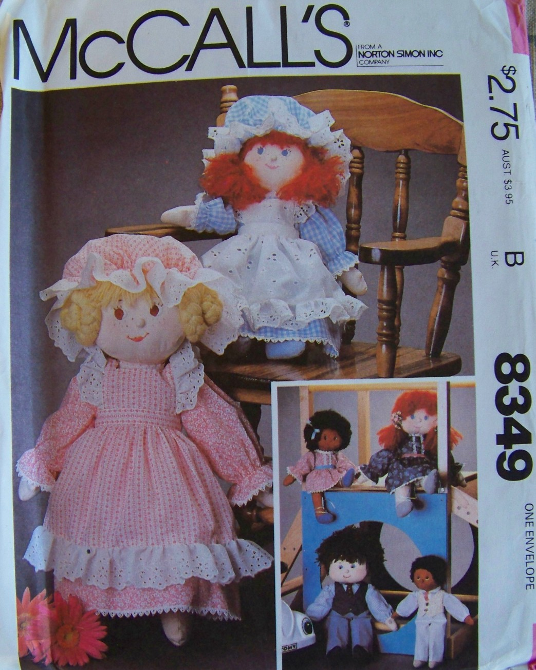 image regarding Printable Rag Doll Patterns named McCalls 8349 A Classic Sewing Behaviors FANDOM run