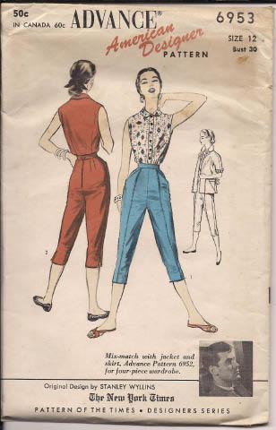 American Designer Pattern Advance 6953 by Stanley Wyllins