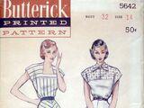 Butterick 5642 A
