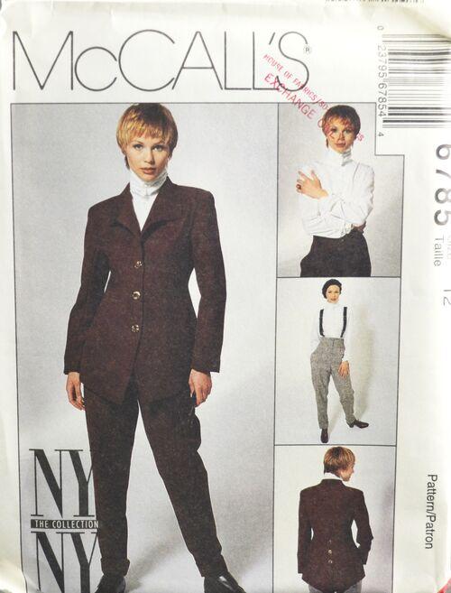 McCall's 6785 Misses' Top Jacket Pants 1