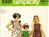Simplicity 5481 A