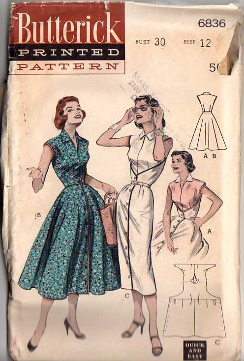 Butterick 6836 | Vintage Sewing Patterns | FANDOM powered by Wikia