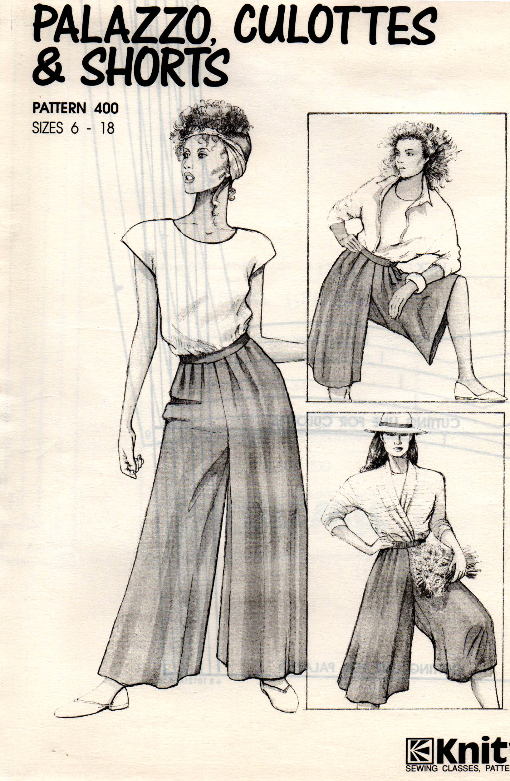 Knitwit 400 vintage sewing patterns fandom powered by wikia knitwit 400 ca 1980s palazzo culottes shorts pattern features wide legged palazzo pant culottes and wide legged shorts bankloansurffo Images