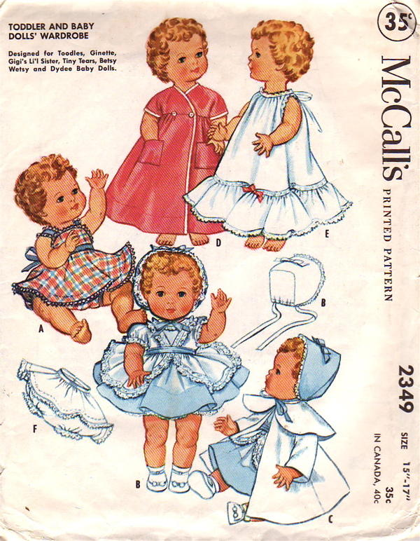 McCall\'s 2349 | Vintage Sewing Patterns | FANDOM powered by Wikia