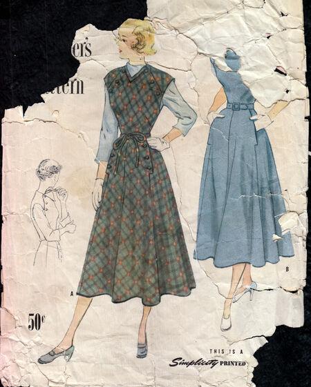 Vintage 1940s designer dress pattern Penelope Rose at Artfire