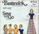 Butterick 6741 A